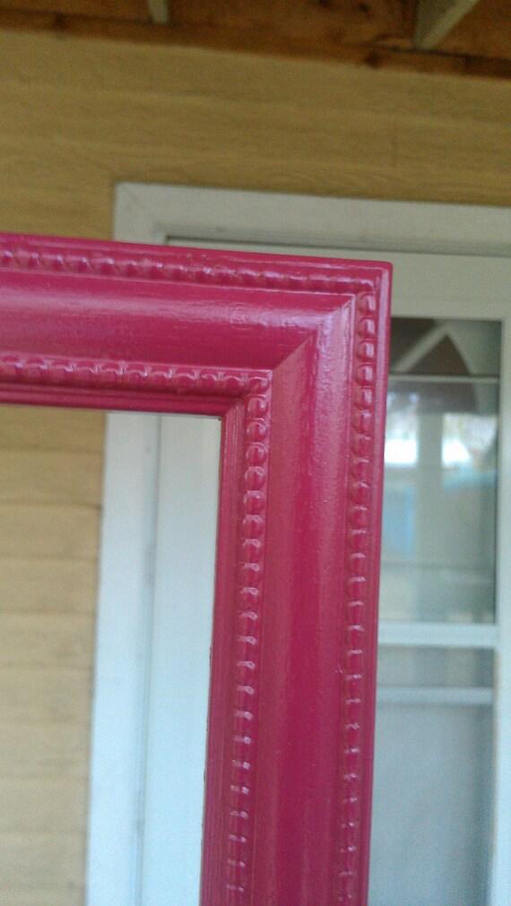 Vintage Wood Frame in Bright Raspberry 15 x 15