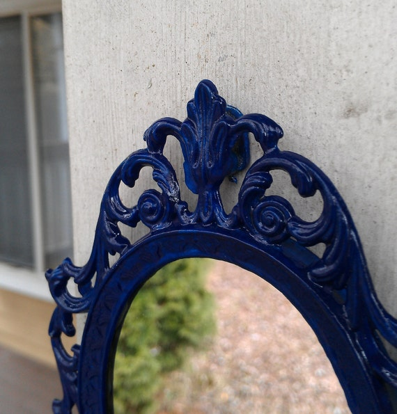 Tiny Fairy Princess Mirror in Cobalt Blue