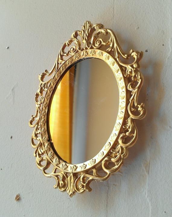 Tiny Fairy Princess Mirror in Bright Gold