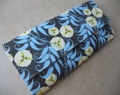 Blue and White Flower Duct Tape Wallet