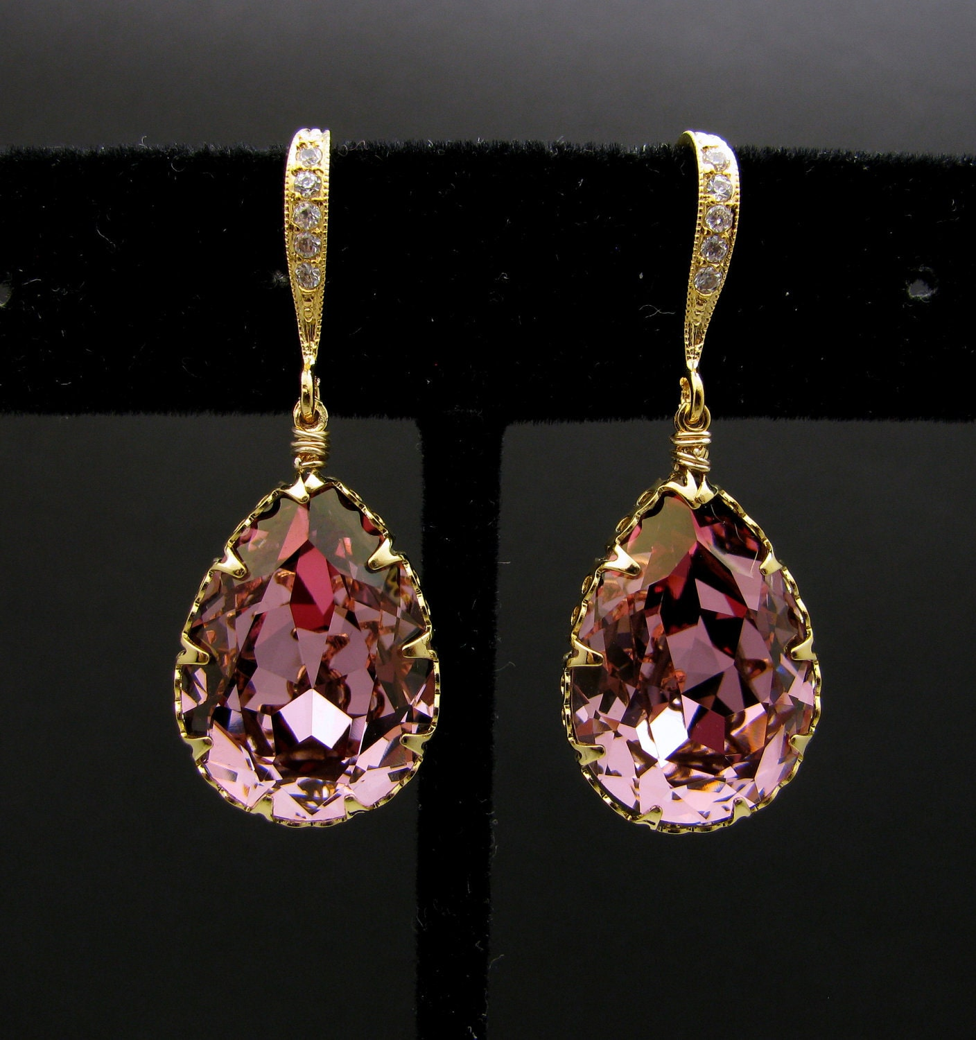 Swarovski Antique Pink Teardrop Earrings With Gold Vermeil. Small Chains. Baguette Wedding Band. Saphire Watches. Ring Platinum. Signet Rings. 3mm Diamond. Jewelry Tanzanite. Light Pink Diamond