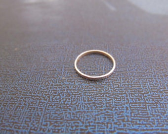 skinny hammered sterling silver ring
