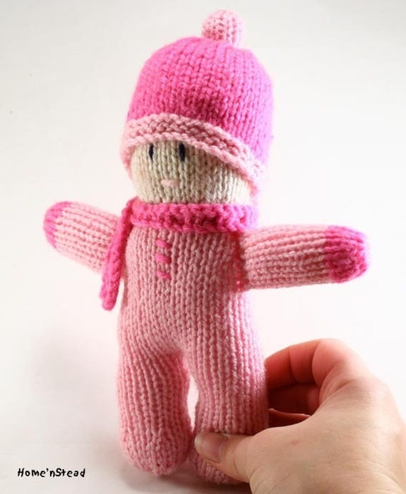 Baby Doll Pretty in Pink Soft Knitted Baby Girls Toy