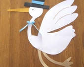 Custom Stork Die Cut - Large 15 inch size for baby shower decoration - You pick the colors