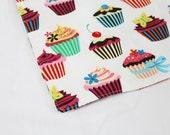 Retro White Cupcakes Waterproof Changing Pad - small