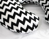 Reserved for Chelsea - Black and White Chevron Boppy Cover