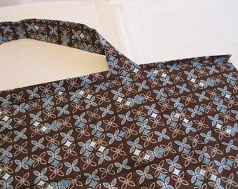 Brown and Blue Retro Nursing Cover