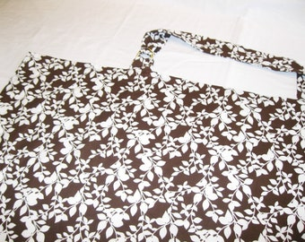 Brown n Cream Vines Nursing Cover