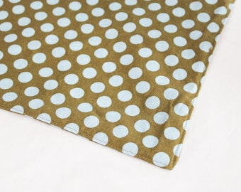 Baby Blue and Brown Dot Waterproof Changing Pad - small