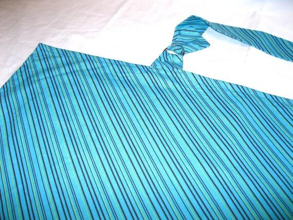 Teal Stripes Nursing Cover
