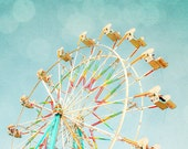 nursery art,ferris wheel,baby wall art,carnival ride,circus carnival vintage,vintage inspired carnival photography,pastel colors wall decor