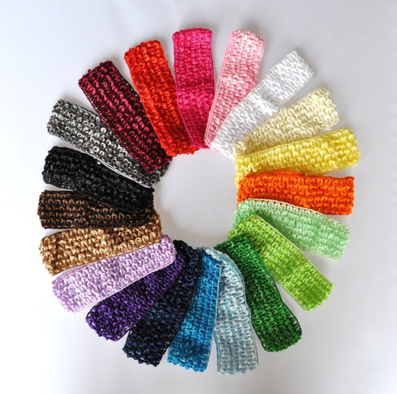 Crochet Hair Wholesale : Wholesale U PICK 50 CROCHET Interchangeable 1.5 Baby hair bow headband ...