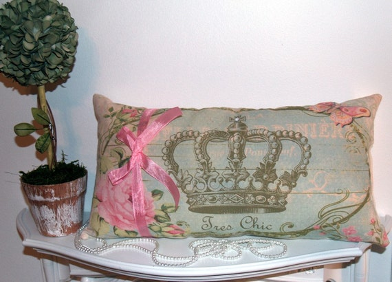 items similar to tres chic french royal crown shabby