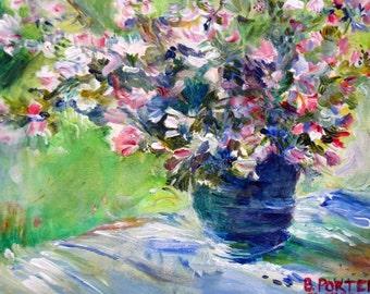 Bouquet Monet Greeting Card