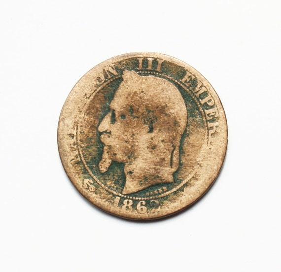 1862 Antique coin Napoleon III