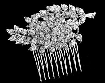 BRIDAL COMB, wedding comb,Bridal Hair comb,crystal hairpiece,bridal head piece,bridal hair accessories - Jozefine-