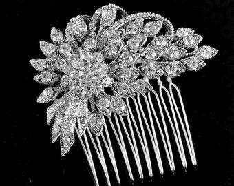 Bridal comb,bridal Haircomb,wedding comb,bridal hair accessories, crystal hairpiece,crystal comb set with Swarovski crystals - Danielle