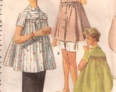Vintage 1950s Simplicity Maternity Top,Skirt, And Shorts Pattern