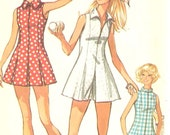 Vintage 1970's Simplicity Misses Tennis or Sport Dress and Shorts Factory Folded Pattern