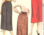"Vintage 1950's Simplicity ""Simply To Make"" Misses' Skirt Sewing Pattern"