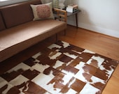 Patchwork Hide Rug - Brown and White