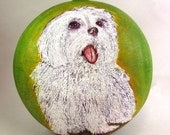 Pet Portrait Wall Pocket Urn Wall Box
