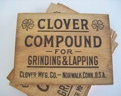 Vintage Wooden Clover Box End