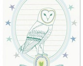 greeting card - owl celebration