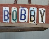 Custom Personalized Name Sign License plate Barnwood Sign