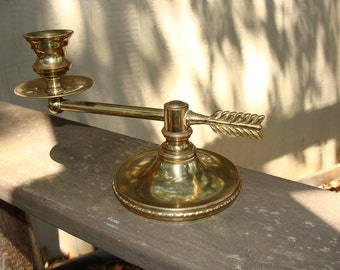 Brass Candle Holder Arrow Design Vintage Brass Home decor