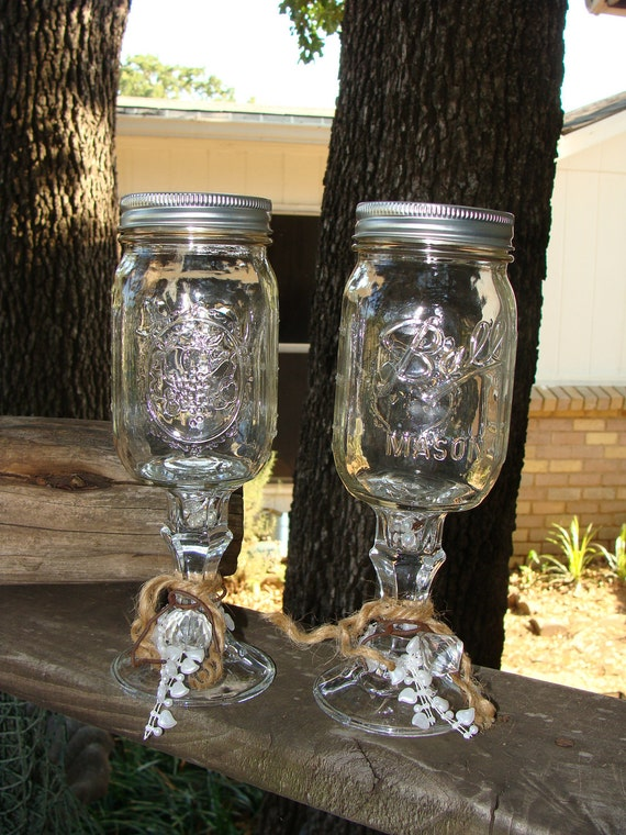 redneck wedding wine glass set rings - Redneck Wedding Rings