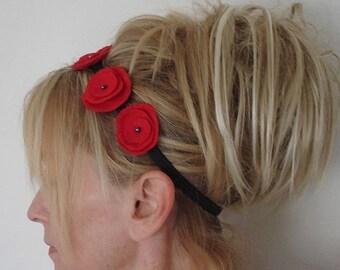 Red Poppy Head Band