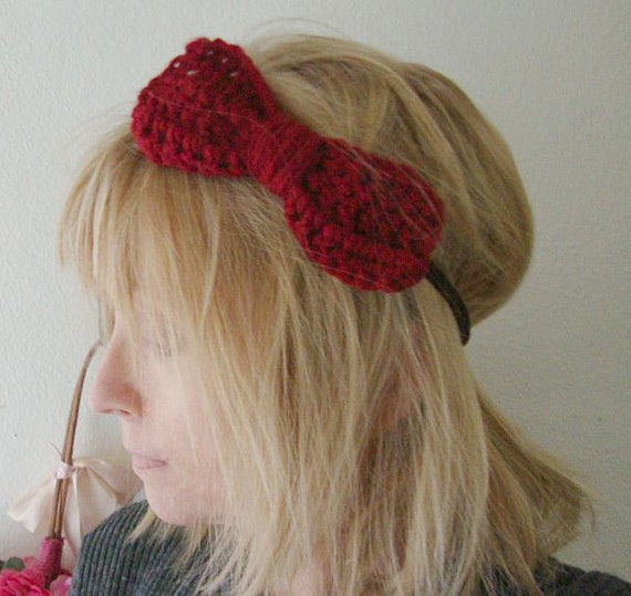 Large Crochet Bow Head Band