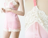 Soft & Romantic Pale Pink Silky Lace Camisole Short Combo