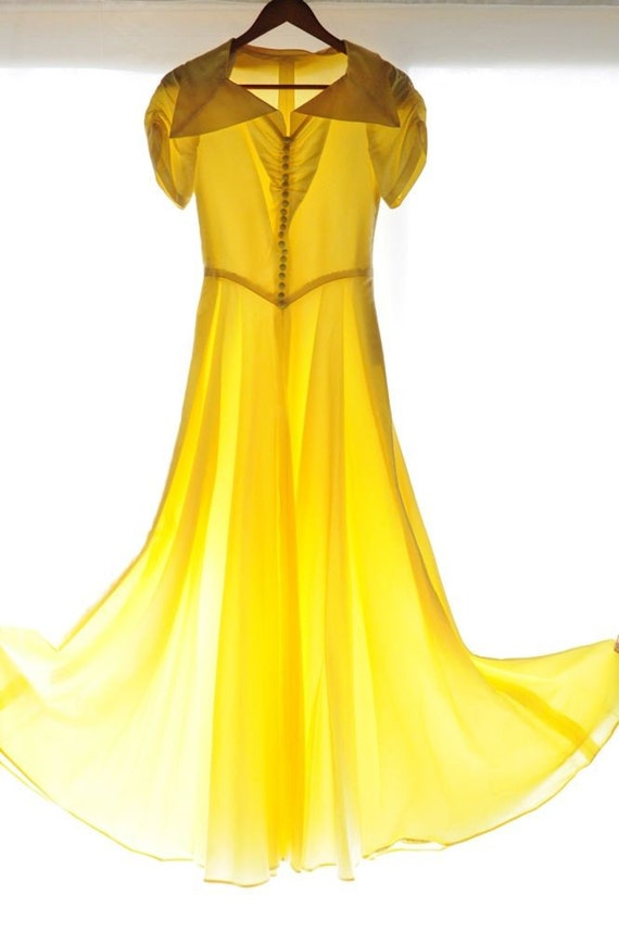 Sale sale sale 1940 39 s canary yellow gown maxi dress for Yellow wedding dresses for sale