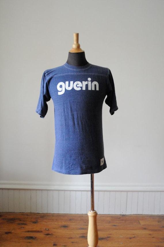 1970's SOFT VINTAGE T SHIRT by Guerin Blue Vintage College T Shirt SIze Medium