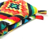 Potholder Set Mexican Fiesta Fabric.  Bright and Happy