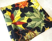 Pot Holder Modern  Leaves Rich Colors Set of Two
