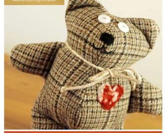 Sewing Pattern Bear Plush Teddy Bear Tutorial 1 Make Him Yourself