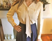 SALE Vintage Sailor Style Blouse WAS 48.00 NOW 28.00