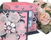 Flower Girl Gift Hand Painted Rotating Photo Box