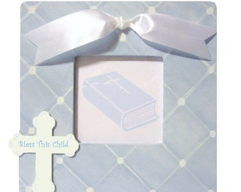 Baptism/Christening Personalized Hand Painted Frame