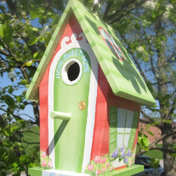 Hand Painted Decorative Birdhouse Home Sweet Home