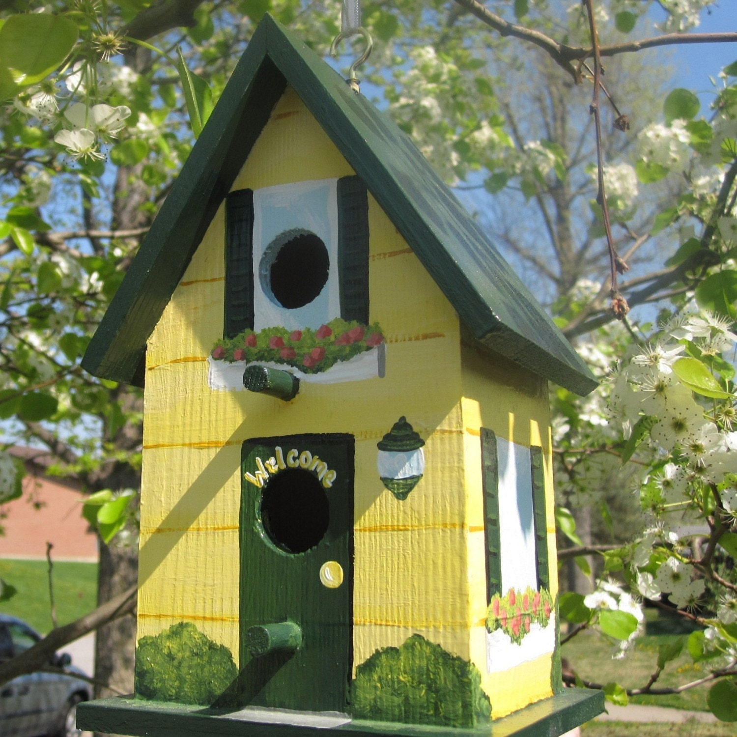 Hand Painted Birdhouse By PaintBrushedBoutique On Etsy