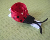 Ladybug Clippies (PAIR) - black and red