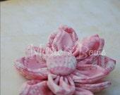 Fabric Flower Clippie - Pink