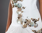 sand and sea ball gown