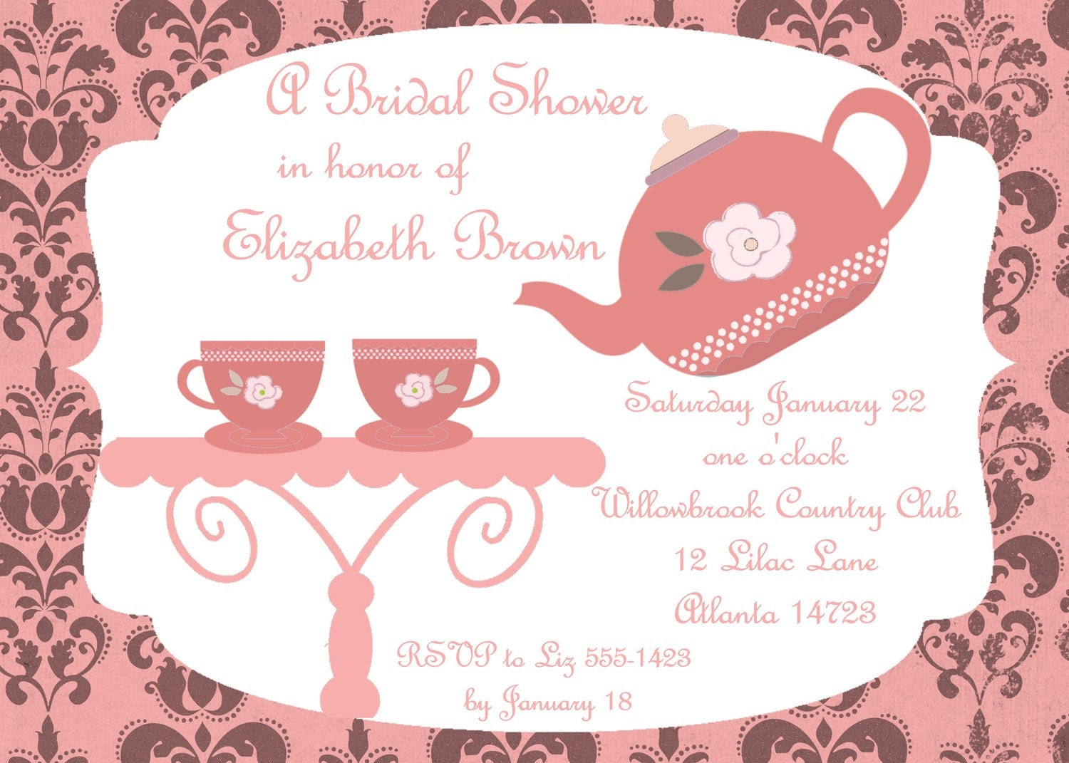 Kitchen Tea Party Invitation Similiar Baby Shower Tea Bag Template Printable Keywords