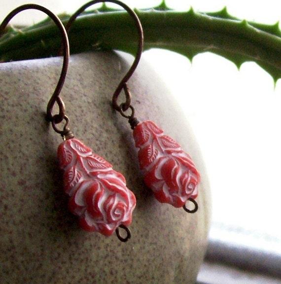 Clarabella.... vintage inspired bead earrings....