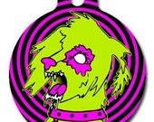 Zombie Poodles on  the Loose Dog Tag - Custom, Metal, Fully Personlized - Higher Quality